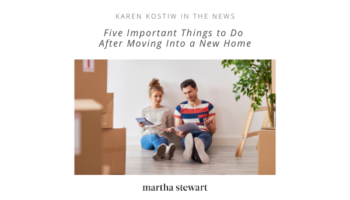 Five Important Things to Do After A Move